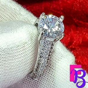 1 CT White Gold Engagement Ring